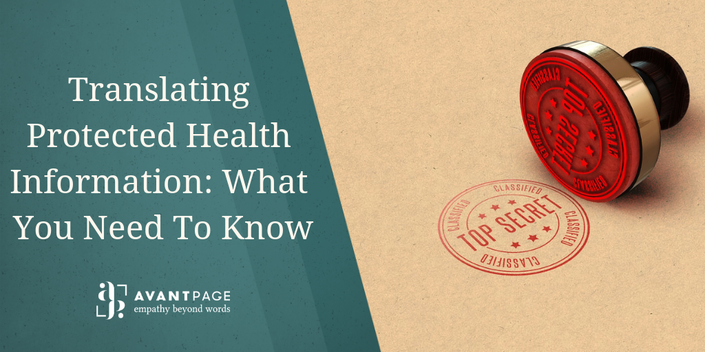 Translating Protected Health Information: What You Need To Know