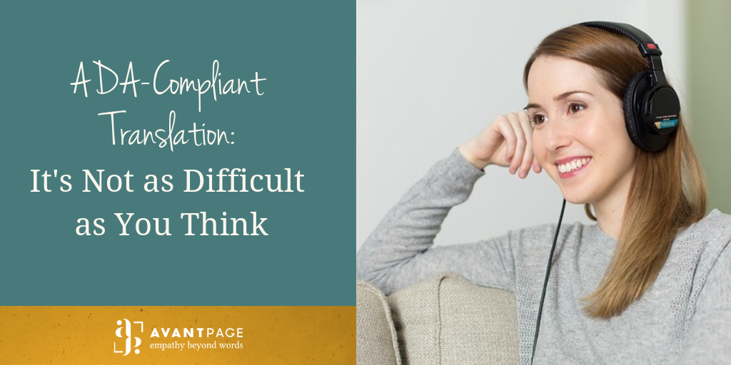 ADA-Compliant Translation: It's Not as Difficult as You Think