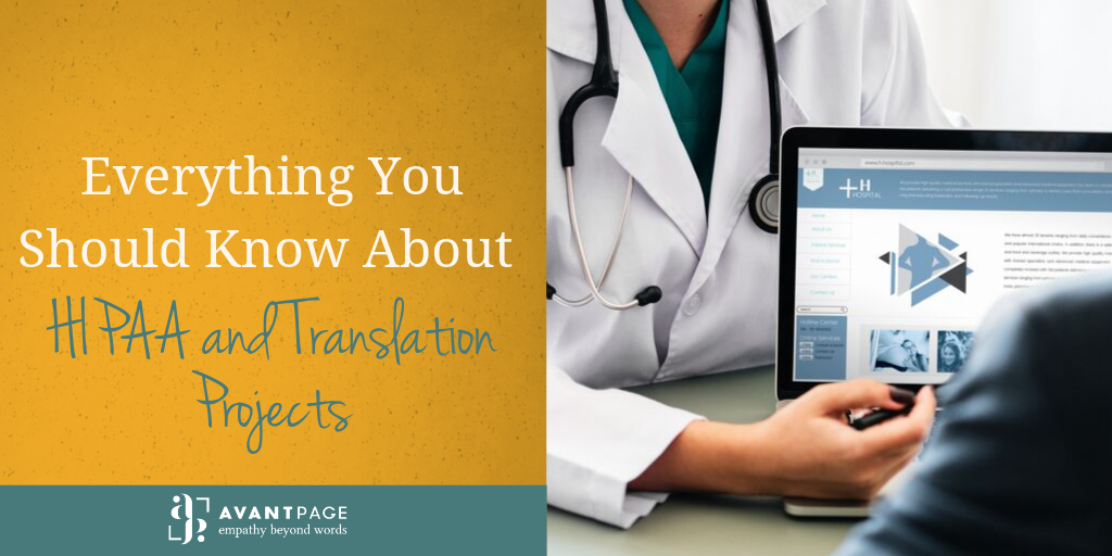 Everything You Should Know About HIPAA and Translation Projects