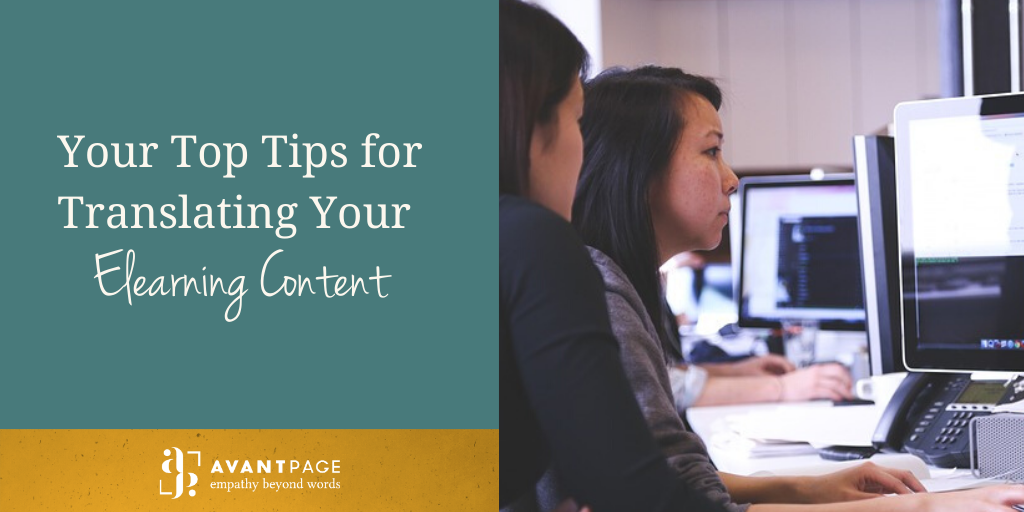 Your Top Tips for Translating Your Elearning Content