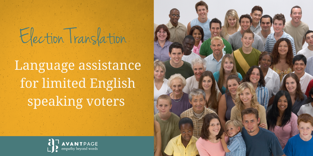 Election Translation [Language Assistance for Limited-English Speaking Voters]