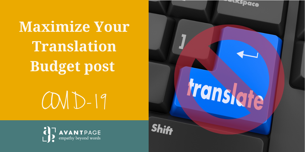 Maximize Your Translation Budget post COVID-19