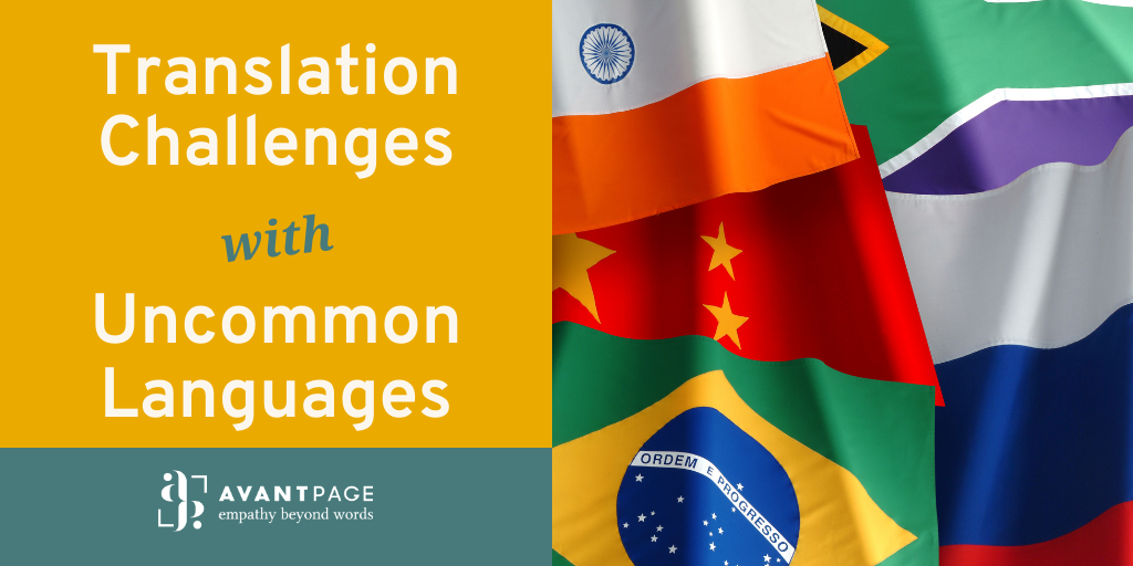 Tips for translating into uncommon languages